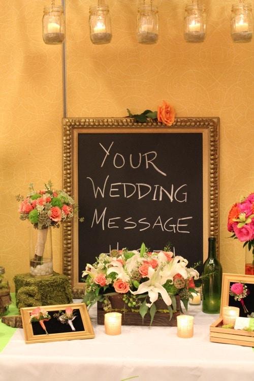 event chalkboard signage