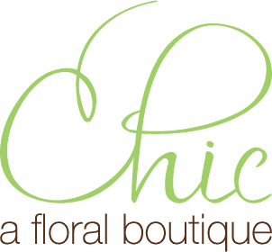 chic a floral boutique logo, long island wedding flowers