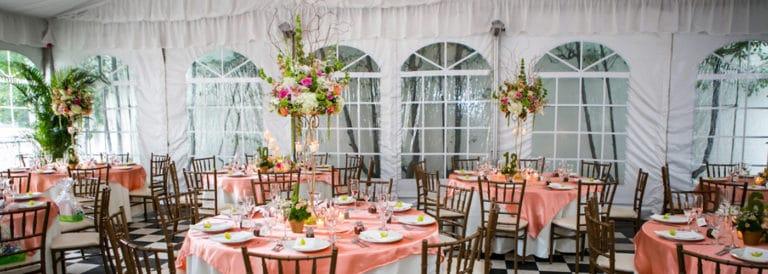 high centerpiece chelsea mansion under tent